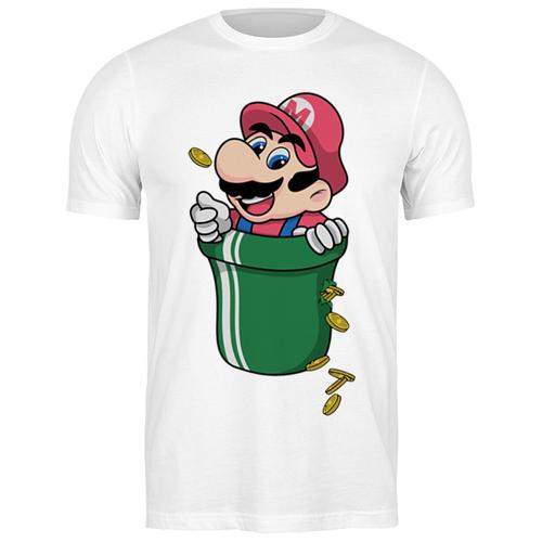 Футболка классическая Марио #1978916 (цвет: БЕЛЫЙ, пол: МУЖ, качество: ЭКОНОМ, размер: 2XL)