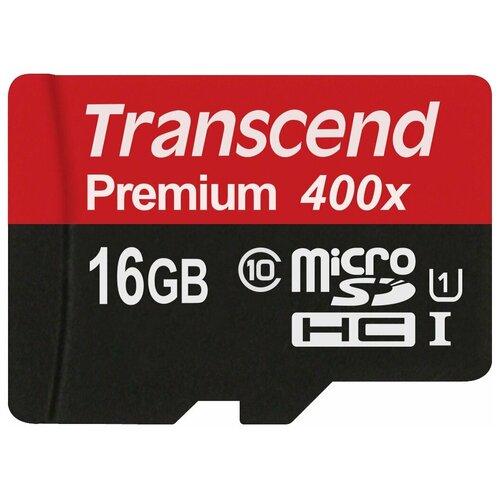 Фото - Карта памяти Transcend TS*USDU1 400x 16 GB, чтение: 60 MB/s, адаптер на SD карта памяти 32gb transcend cf 400x