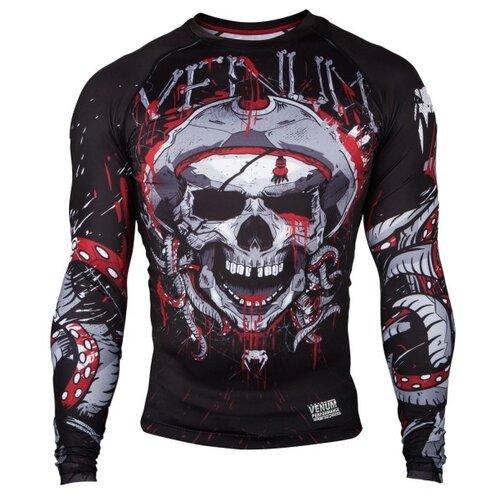 Рашгард Venum Pirate 3.0 Black/Red L/S S рашгарды venum рашгард pirate 3 0 black red l s