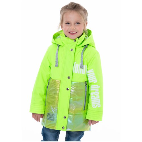Фото - Парка для девочки Talvi 122101, размер 122-60, цвет зелёный неон кофта для девочки leadgen цвет серый g427011812 171 размер 122