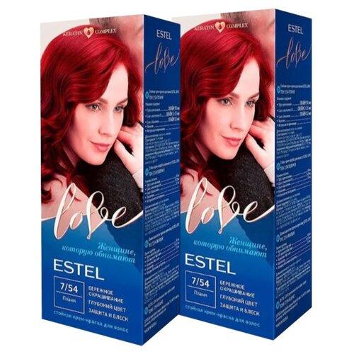 ESTEL Love Стойкая крем-краска для волос, 2 шт., 7/54 пламя estel love стойкая крем краска для волос 4 7 мокко