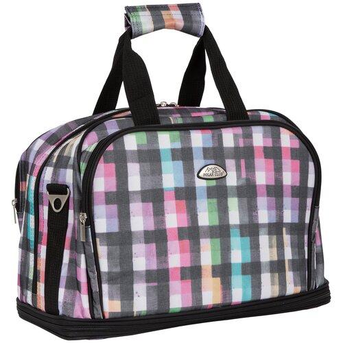 Дорожная сумка П7092 клетка цветная