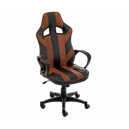 Фото - Компьютерное кресло Woodville Lambo офисное, обивка: искусственная кожа, цвет: черный/коричневый компьютерное кресло woodville rich офисное обивка искусственная кожа цвет коричневый