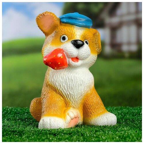 Садовая фигура Щенок с клубникой 20 х16 см 6255372 садовая фигура щенок с клубникой 20 х16 см 6255372