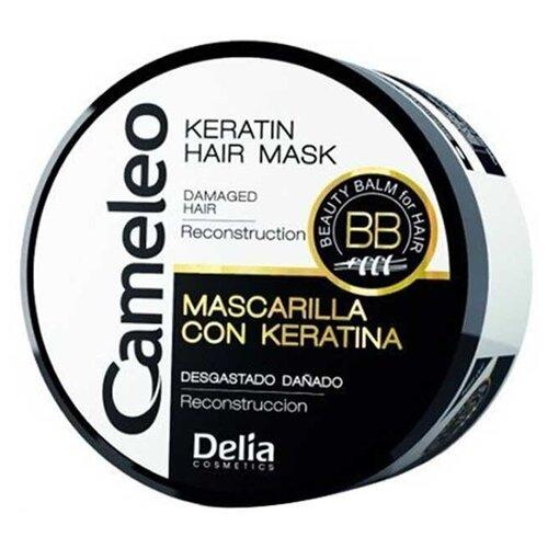 Delia Cosmetics Cameleo BB Кератиновая маска – реконструкция волос, 500 мл кератиновый кондиционер delia cosmetics cameleo вв объем волос 200 мл
