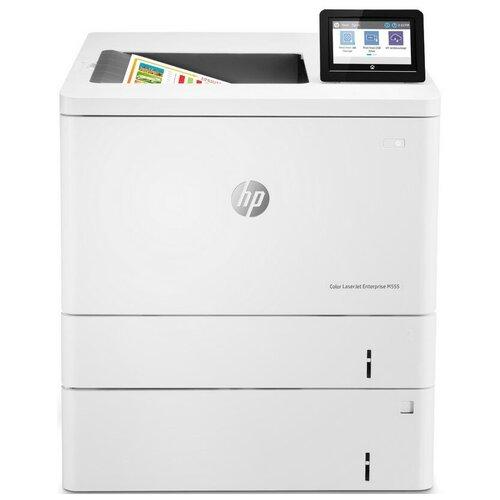 Принтер HP Color LaserJet Enterprise M555x, серый