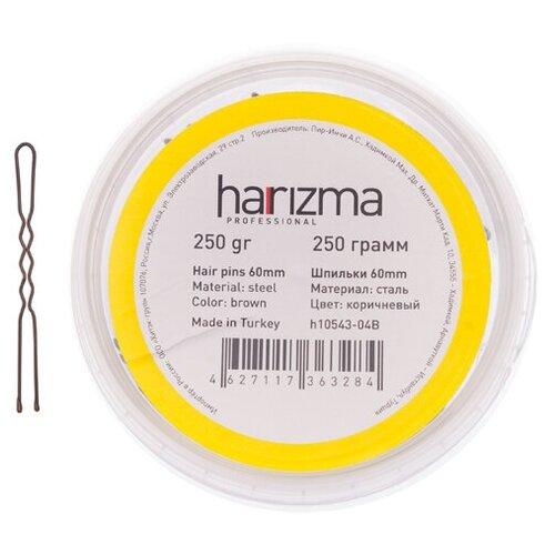 Купить Шпильки Harizma 60 мм волна 250 гр коричневые h10543-04B