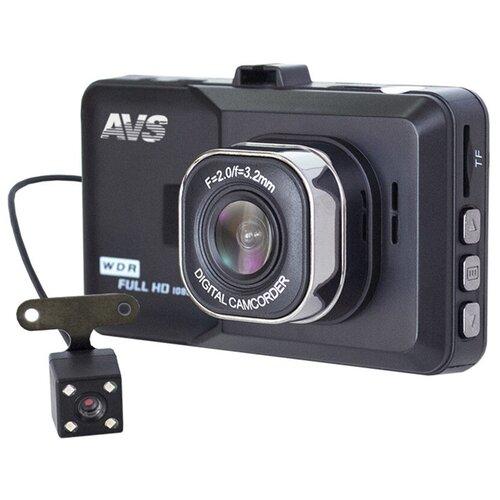 Видеорегистратор AVS VR-202DUAL-V2 видеорегистратор avs vr 802shd черный