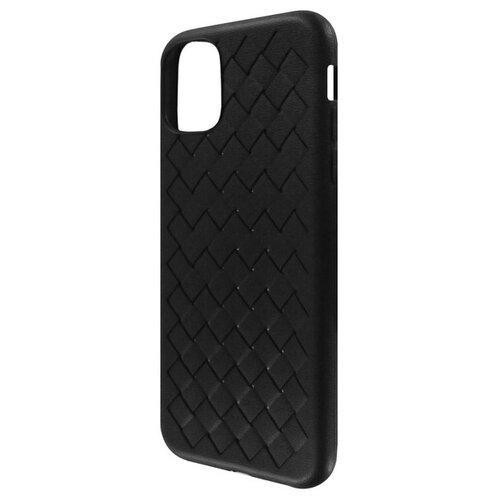 Krutoff / Накладка силиконовая плетеная Krutoff для iPhone 11 Pro (black)