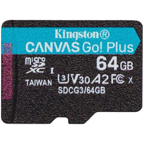 Фото - Карта памяти Kingston SDCG3 64 GB, чтение: 170 MB/s, запись: 70 MB/s, черный карта памяти sony qdg 64 gb чтение 400 mb s запись 350 mb s