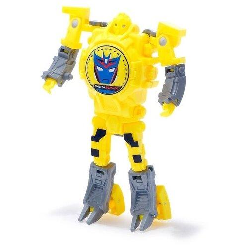 Купить Робот-трансформер Woow Toys Часы желтый, Роботы и трансформеры