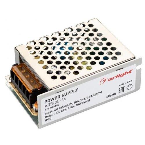 Фото - Блок питания ARS-35-24 (24V, 1.5A, 35W) блок питания ars 120 24 ls 24v 5a 120w