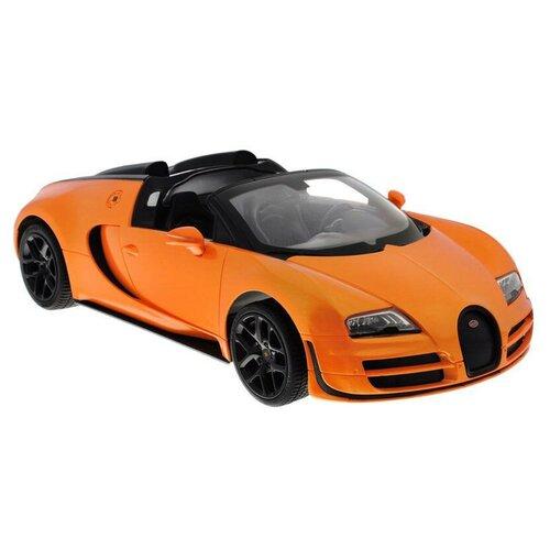 Фото - Легковой автомобиль Rastar Bugatti Grand Sport Vitesse (70400) 1:14 33 см оранжевый гоночная машина rastar bugatti veyron grand sport vitesse 53900 1 18 черный