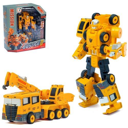 Робот-трансформер Стройбот-Кран , с металлическими элементами 2611549, Сима-ленд, Роботы и трансформеры  - купить со скидкой