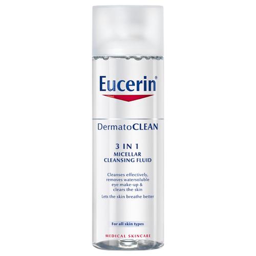 Eucerin свежающий и очищающий мицеллярный лосьон 3в1 DermatoClean, 200 мл недорого