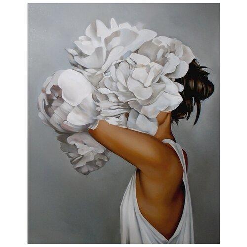 Купить Картина по номерам Colibri Девушка-цветок в майке 40х50см, арт. VA-2431, Картины по номерам и контурам