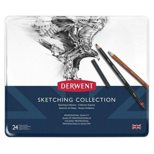 Купить Набор карандашей Derwent Sketching Collection 24цв в метал.упак, 34306, Цветные карандаши