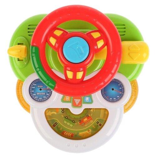 Развивающая игрушка Умка Музыкальный руль Поехали (WD3740), разноцветный