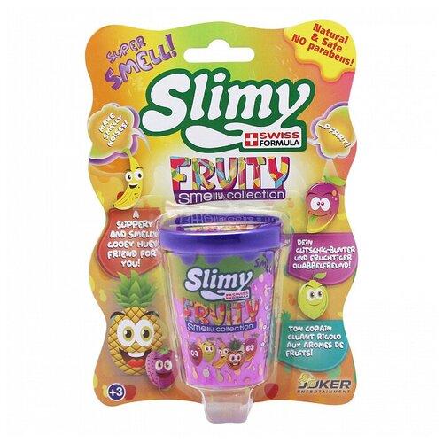 Лизун Slimy Fruity smelly collection с запахом манго фиолетовый