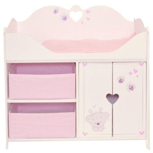 Купить PAREMO Кроватка-шкаф для кукол Рони, Стиль 2 (PRT220-02) белый/розовый, Мебель для кукол