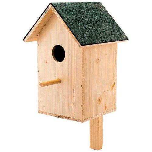 Скворечник своими руками набор для сборки Дарэлл с двускатной крышей малый 38 х 19 х 18,5 см (1 шт) игрушка для грызунов дарэлл кубик малый деревянный 10 х 10 х 11 5 см 1 шт