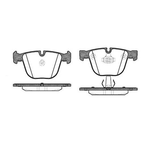 Комплект тормозных колодок Roadhouse 2892.00 для BMW 1 серия E82, 3 серия E90,E92,E93, 5 серия E60,E61, 6 серия E63,E64,