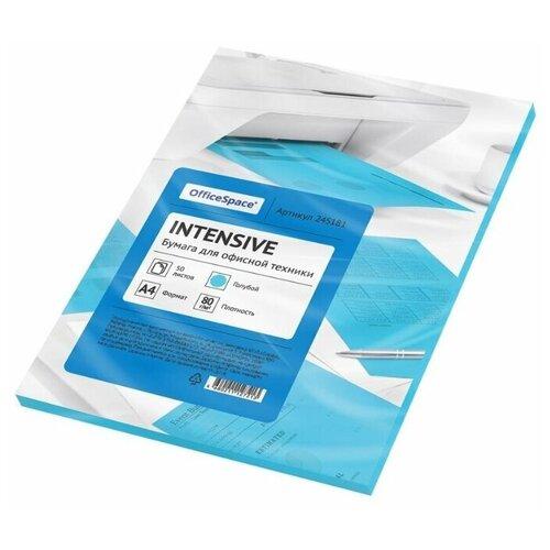 Фото - Бумага OfficeSpace A4 Intensive 80 г/м² 50 лист. (цветная), голубой бумага officespace a4 pale 80г м2 50лист цветная фиолетовый