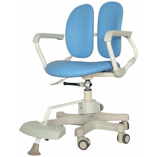 компьютерное кресло duorest kids max детское обивка искусственная кожа цвет светло зеленый Компьютерное кресло DUOREST Kids DR-280DDS детское, обивка: искусственная кожа, цвет: MILKY BLUE