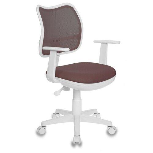 Компьютерное кресло Бюрократ CH-797 детское, обивка: текстиль, цвет: TW-14C коричневый компьютерное кресло бюрократ ch w797 abstract детское обивка текстиль цвет мультиколор абстракция