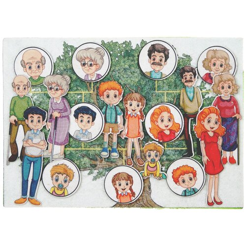 Купить Развивающая игра из фетра на липучках Семья , Веселые липучки, Развивающие коврики