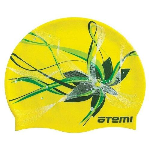 Фото - Шапочка для плавания ATEMI PSC414, желтый аксессуары для плавания atemi шапочка для плавания графика psc422
