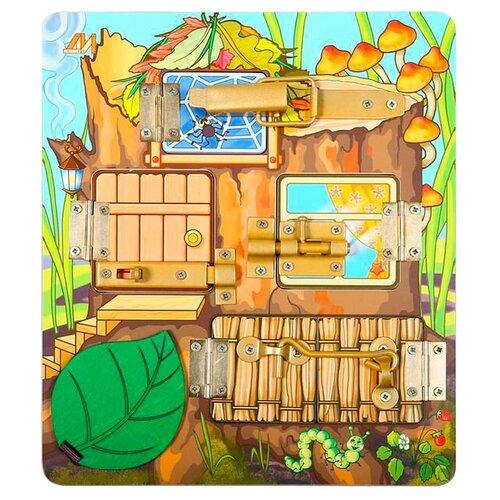 Бизиборд Деревянные игрушки Теремок разноцветный