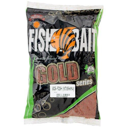 Прикормочная смесь FishBait Gold Big Fish клубника 1000 г