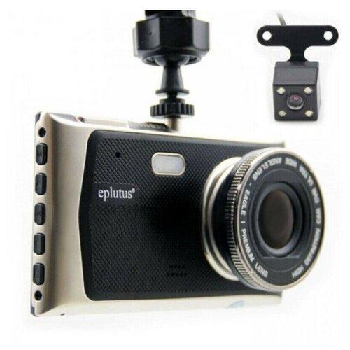 Автомобильный видеорегистратор с 2-мя камерами Eplutus DVR-939/видеорегистратор автомобильный с g сенсором(датчиком удара)+флеш-карта на 32GB