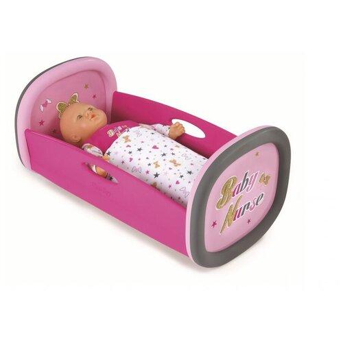Smoby Колыбель для кукол Baby Nurse (220313) розовый/серый