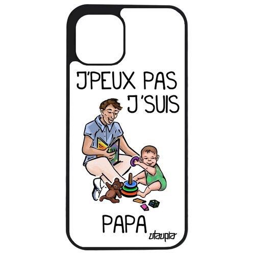 "Чехол на смартфон Apple iPhone 12, ""Не могу - стал папой!"" Комикс Папуля"