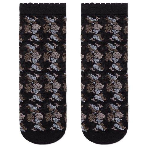 Капроновые носки Conte Elegant 19С-113СП, размер 23-25, brown-nero