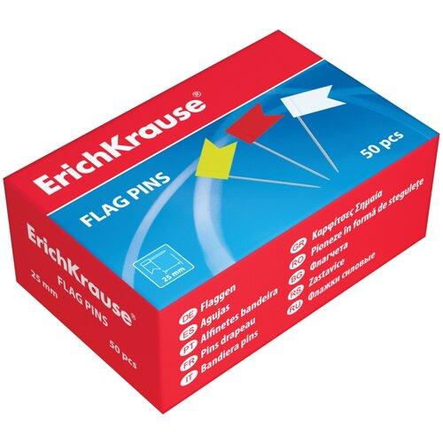 Купить Флажки ErichKrause® цветные (коробка 50 шт.), Скрепки, кнопки