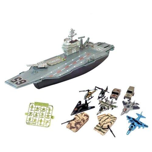Купить Игровой набор Junfa Авианосец , Собери сам, (корабль, самолеты, военная техника, аксессуары) (P849-A), Junfa toys, Машинки и техника