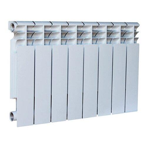 Фото - Радиатор секционный алюминий Oasis Al 350/80 x8 подключение боковое правое RAL 9016 3642 j