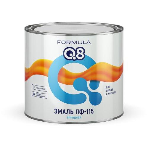 Фото - Эмаль алкидная (А) Formula Q8 ПФ-115 голубой 1.9 кг эмаль пф 115 formula q8 светло голубой 0 4 кг