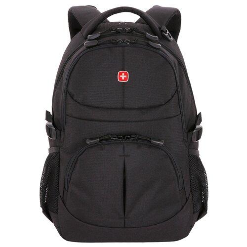 Фото - Рюкзак SWISSGEAR чёрный, полиэстер, 33х15х45 см, 22 л рюкзак swissgear 32x15x46 см 22 л черный
