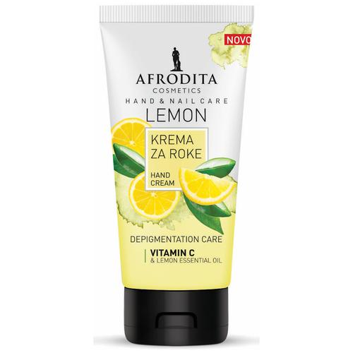 Крем для рук и ногтей с витамином С против возрастной пигментации LEMON, Afrodita Cosmetics, Словения, 75мл