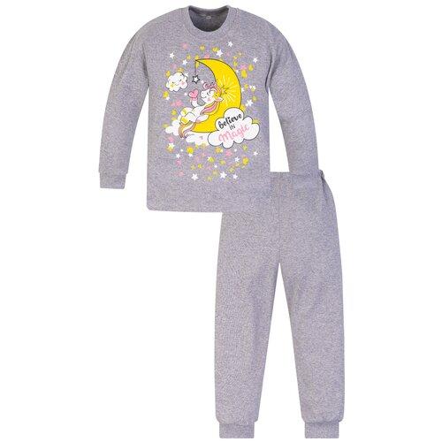 Купить Пижама дтская 819п, Утенок, размер 56(рост 98 см) меланж_луна, Домашняя одежда