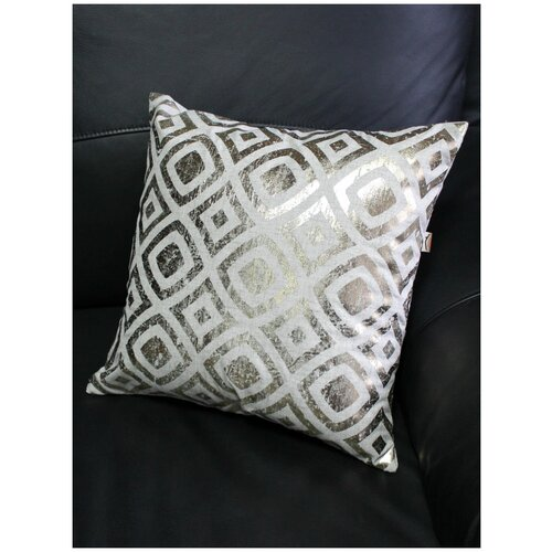 Подушка декоративная матех LUXURY гипноз, золотой рисунок, наволочка на молнии, лен 20%, 40х40 см