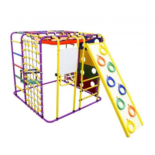 Купить Спортивно-игровой комплекс Формула здоровья Кубик-У Плюс, фиолетовый/радуга, Игровые и спортивные комплексы и горки