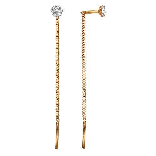 Сорокин Золотые серьги с фианитами 30071600