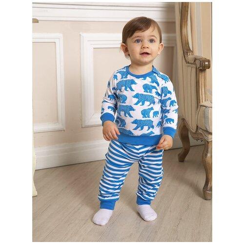 Купить 2821152 Пижама: Джемпер, брюки Пижамы 2021 , КотМарКот, размер 92, состав:100% хлопок, цвет Белый, KotMarKot, Домашняя одежда