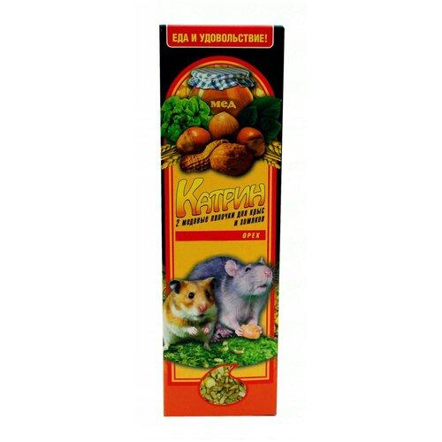 Лакомство для грызунов Катрин Медовые палочки с орехами