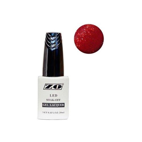 Купить Гель-лак для ногтей ZO GL, 20 мл, 187 коричнево-малиновый шиммер